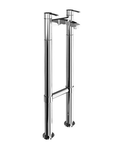 Britton Sapphire Chrome Bath Filler Tap With Floor Mounted Legs