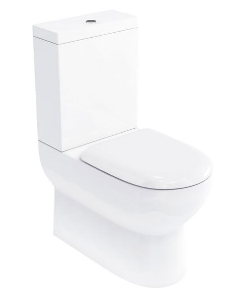 Britton Compact Close Coupled WC Pan With Cistern And Soft Close Seat