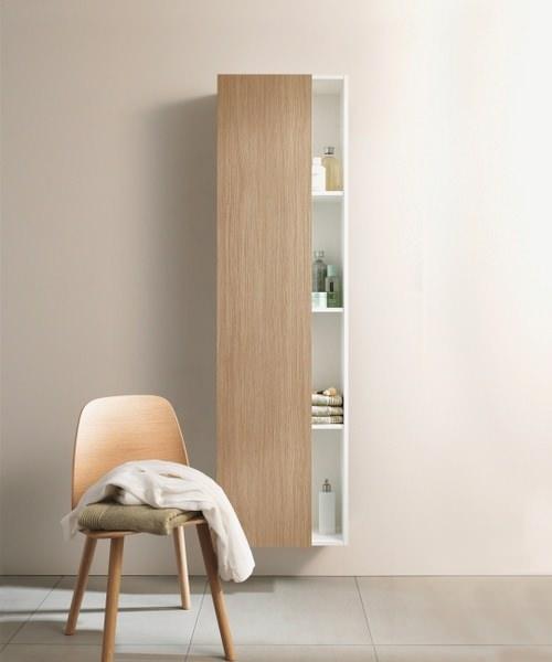 Duravit DuraStyle 1400x240mm Tall Cabinet White Matt