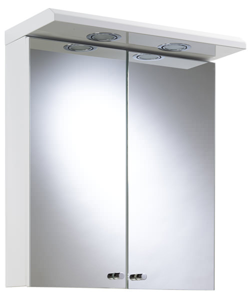 Croydex Shire White Double Door Illuminated Cabinet 450 x 530mm