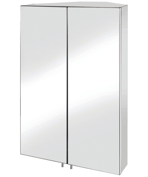 Croydex Avisio Double Door Stainless Steel Corner Unit