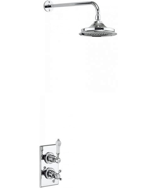 Burlington Trent Concealed Thermostatic Valve With Fixed Arm And Head