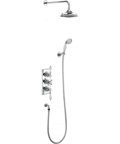Burlington Trent Two Outlet Concealed Thermostatic Valve With Shower Set