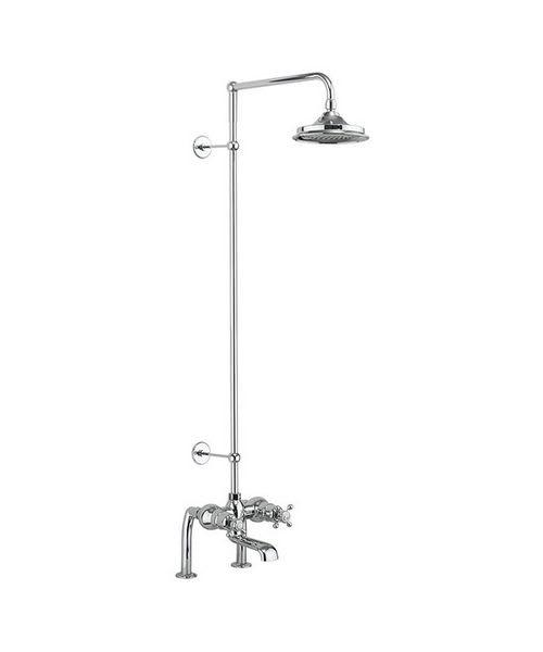 Burlington Tay Deck Mounted Thermostatic Bath Shower Mixer With Rigid Riser