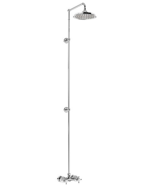 Burlington Eden Single Outlet Exposed Thermostatic Extended Shower Set