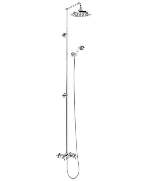 Burlington Eden Two Outlet Exposed Thermostatic Extended Shower Set