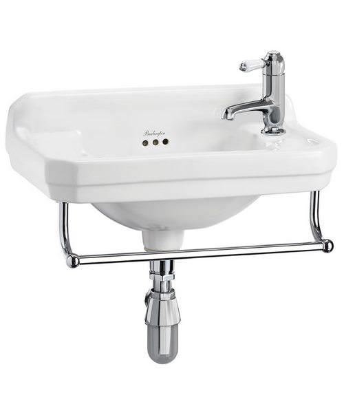 Burlington Edwardian Cloakroom Basin With Towel Rail - W 510 x D 308mm