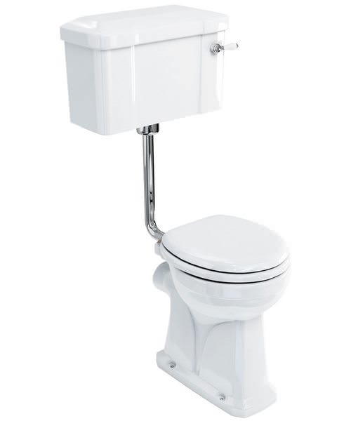 Burlington Regal Low Level Toilet With Lever Cistern And Flush Pipe Kit