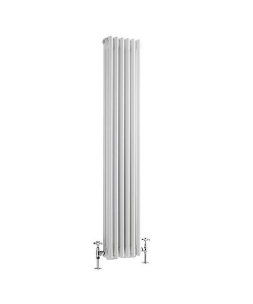 Reina Colona White Vertical 3 Column Radiator 380 x 1800mm