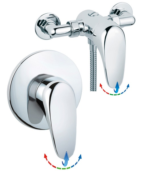 Sagittarius Genoa Exposed Or Concealed Thermostatic Shower