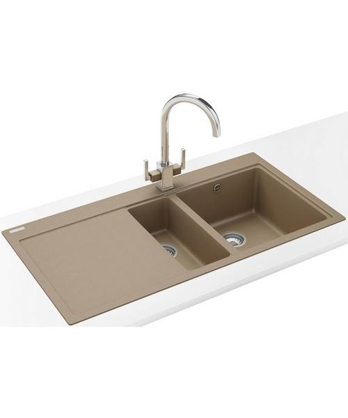 Franke Mythos Sink And Tap Pack : Franke Mythos MTG 651-100 Fragranite Oyster 1.5B LHD Sink And Tap