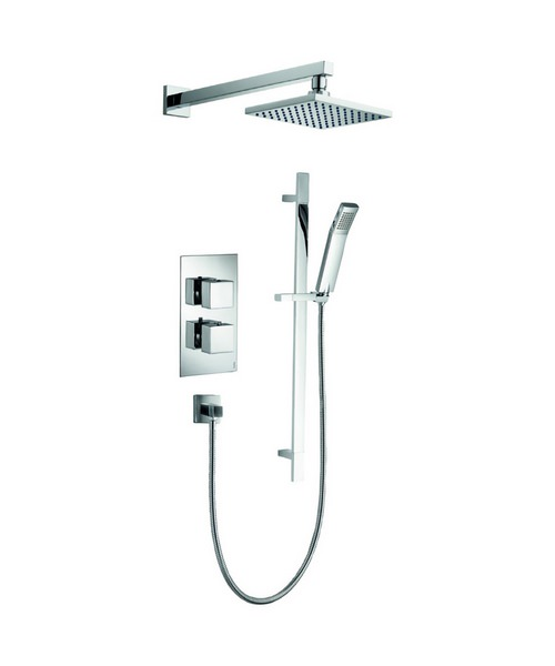 Pura Bloque2 Thermostatic Valve With Head And Slide Rail Kit