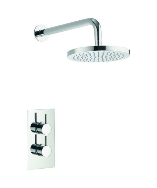 Pura Arco Single Outlet Concealed Thermostatic Valve With Fixed Head
