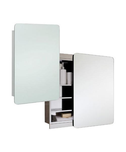 RAK Slide Stainless Steel Single Cabinet with Sliding Mirrored Door 500 x 700mm