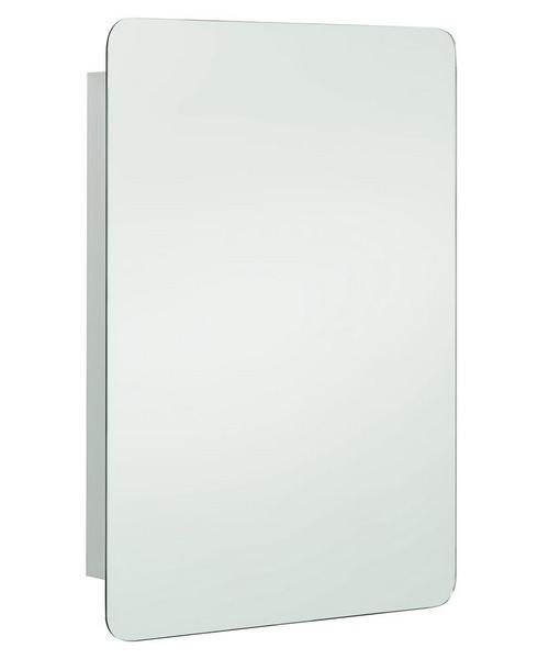 RAK Uno Stainless Steel Hinged Door 460 x 660mm Mirror Cabinet