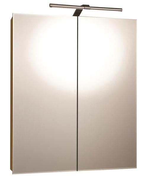 RAK Vogue Luxury Aluminium Double Door Mirror Cabinet 600 x 700mm
