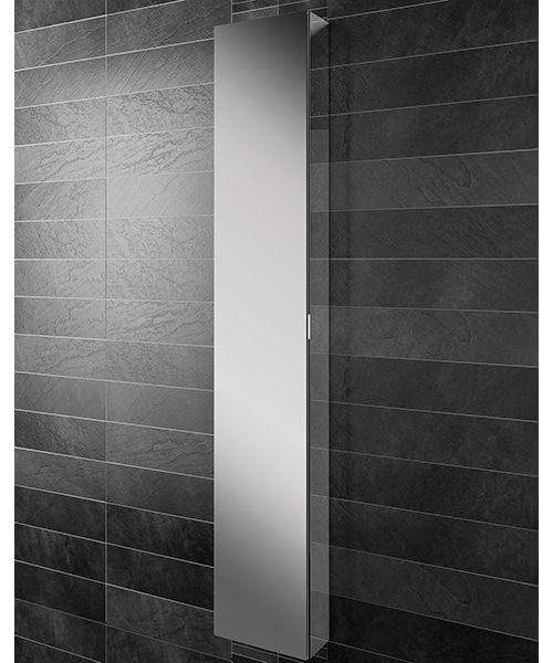HIB Eris 30 Aluminium Tall Cabinet With Mirrored Sides 300 x 1700mm