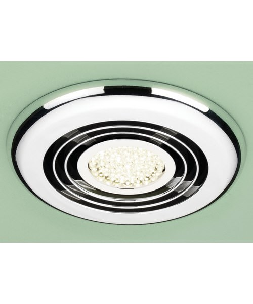 Alternate image of HIB Cyclone Wet Room Inline Extractor Fan With Built-In Cool White LED