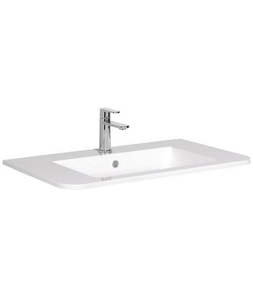 Bauhaus Celeste White Ceramic Basin 800mm