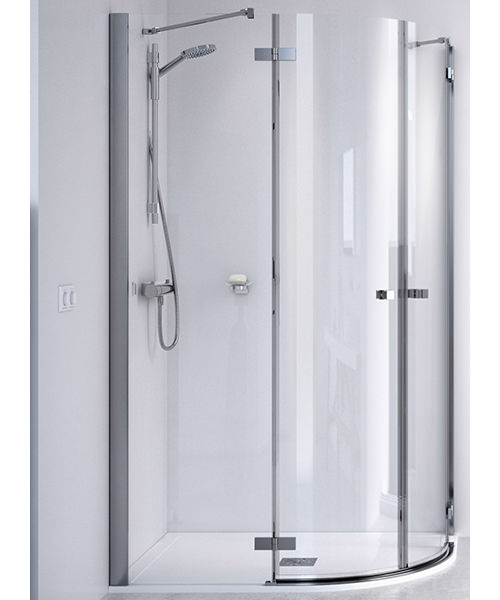Aqualux ID Match Square Offset Quadrant Shower Enclosure