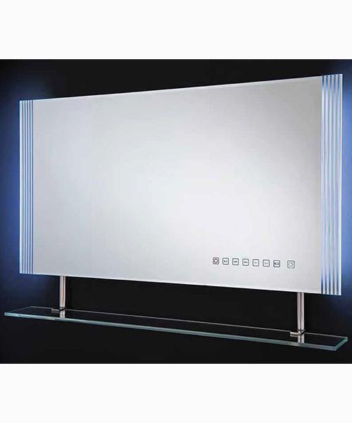 RAK Reflections 850 x 450mm White Framed LED Mirror With Shelf