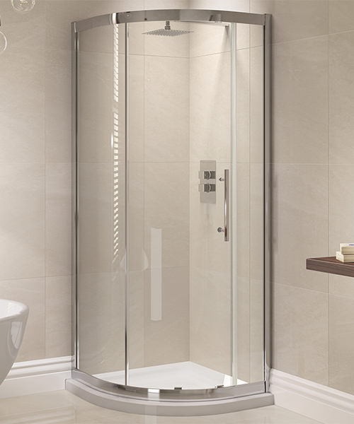 April Prestige 900 x 900mm Single Door Shower Quadrant
