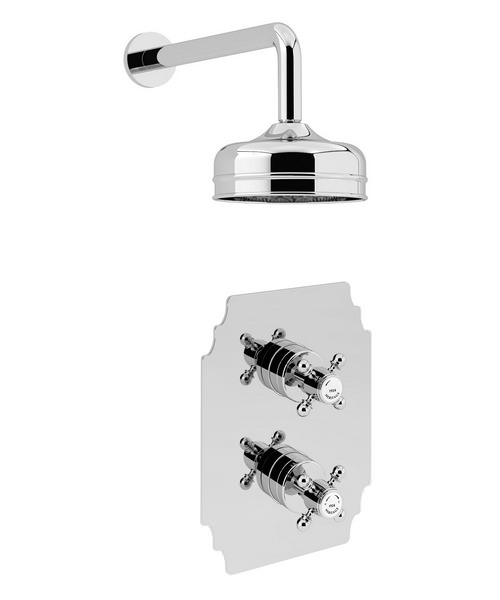 Heritage Hartlebury Recessed Thermostatic Valve With Fixed Head Kit