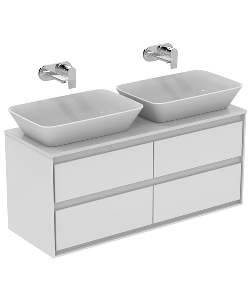 Ideal Standard Concept Air 1200mm Wall 4 Drawers Vanity Unit With Worktop