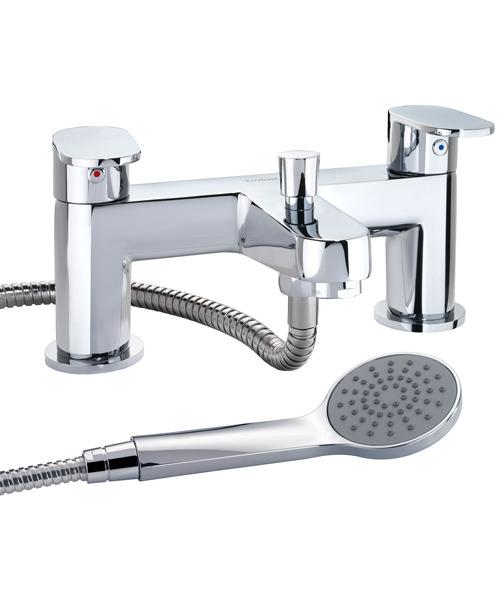 Twyford X70 Chrome Deck Mounted 180mm Bath Shower Mixer Tap