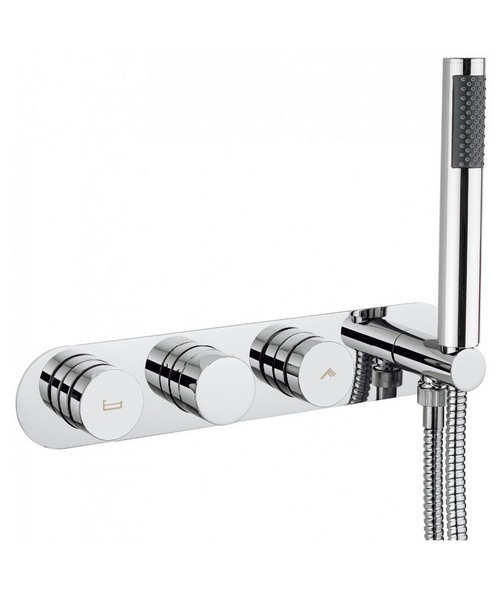 Crosswater Dial Bath - Shower Valve With Central Trim And 1 Mode Handset