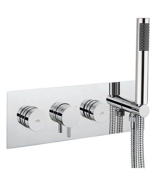 Crosswater Dial Shower Valve With Kai Lever Trim And 1 Mode Handset