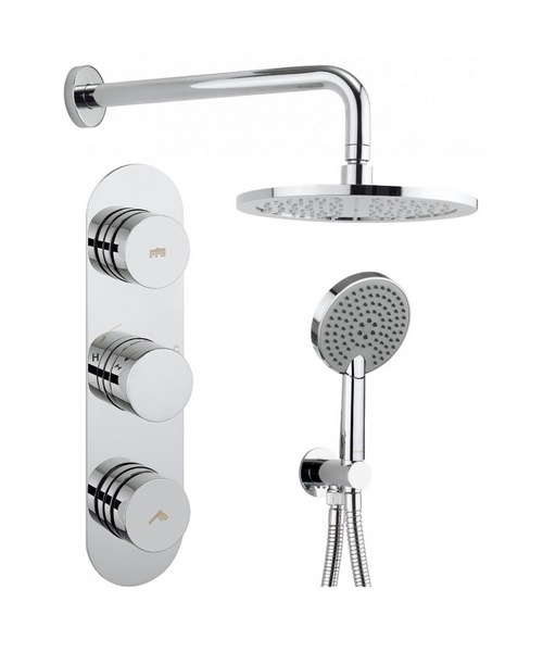 Crosswater Dial-Central 2 Control Valve With 3 Mode Handset And Shower Head