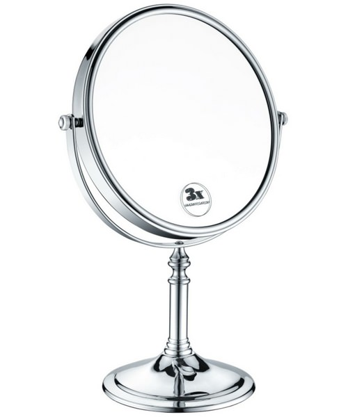 Heritage 8 Inch Free Standing Magnifying Round Mirror