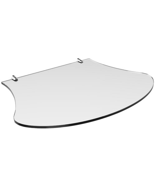 Heritage Glass Shelf Chrome For Abingdon Claverton Washstand
