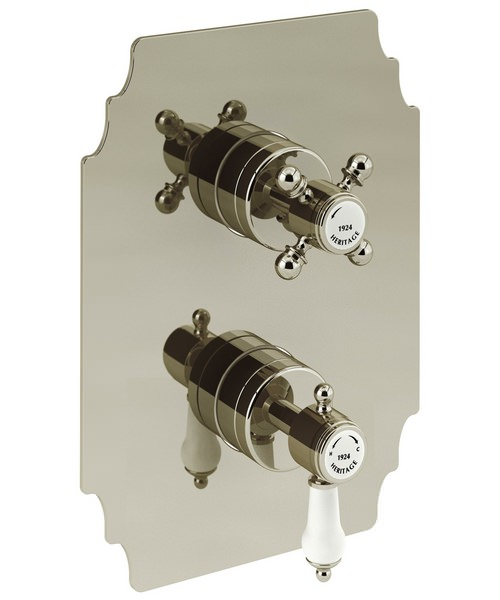 Additional image of Heritage Glastonbury Traditional Recessed Thermostatic Shower Valve