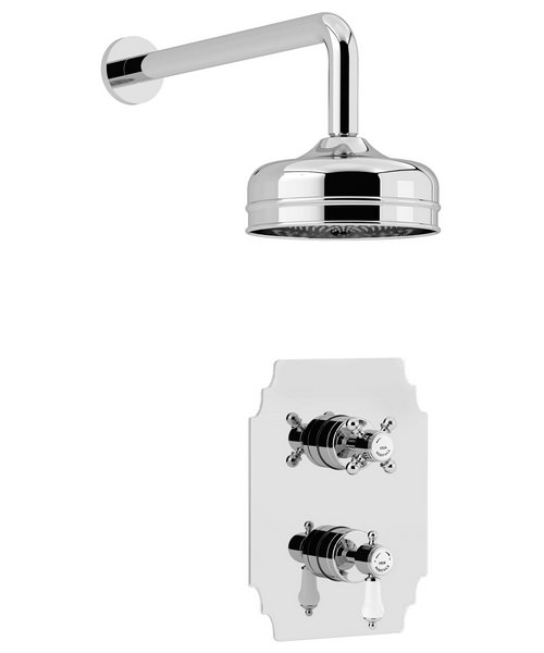 Heritage Glastonbury Recessed Thermostatic Shower Valve With Fixed Head Kit