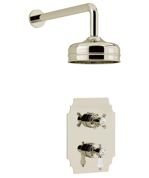 Additional image of Heritage Glastonbury Recessed Thermostatic Shower Valve With Fixed Head Kit