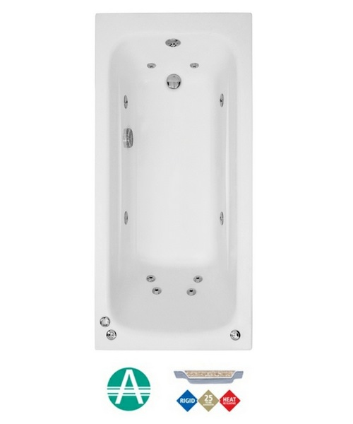 Phoenix Crystal Amanzonite 1700 x 800mm Single Ended Whirlpool Bath