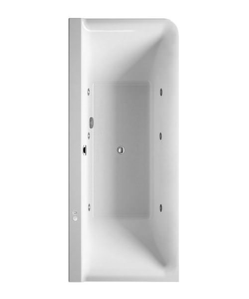 Duravit P3 Comforts Whirltub Corner Left With Panel - L 1800 x W 800mm