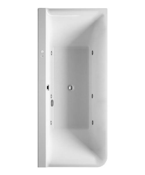 Duravit P3 Comforts 1800x800mm Corner Right Bath With Panel - Jet System