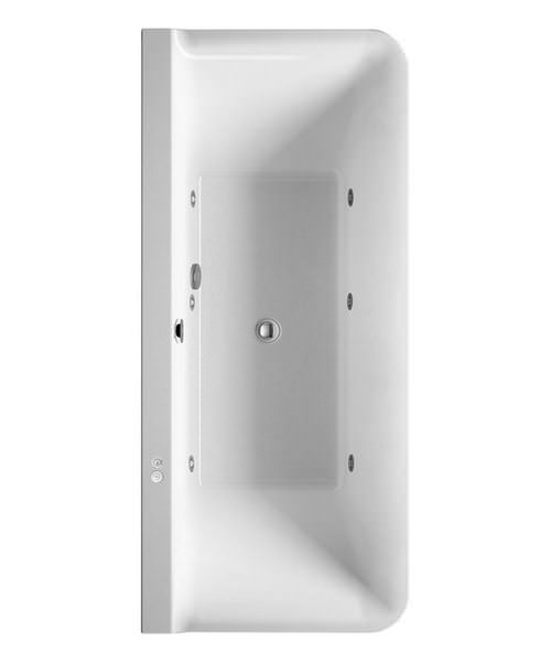 Duravit P3 Comforts 1800 x 800mm Back To Wall Bath With Panel - Jet System