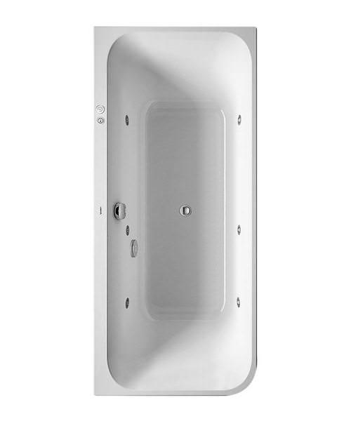 Duravit Happy D2 Corner Bath Right 1800 x 800mm With Panel - Jet-System