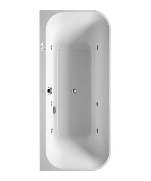 Duravit Happy D2 Back-To-Wall 1800 x 800mm Bath With Panel And Jet-System