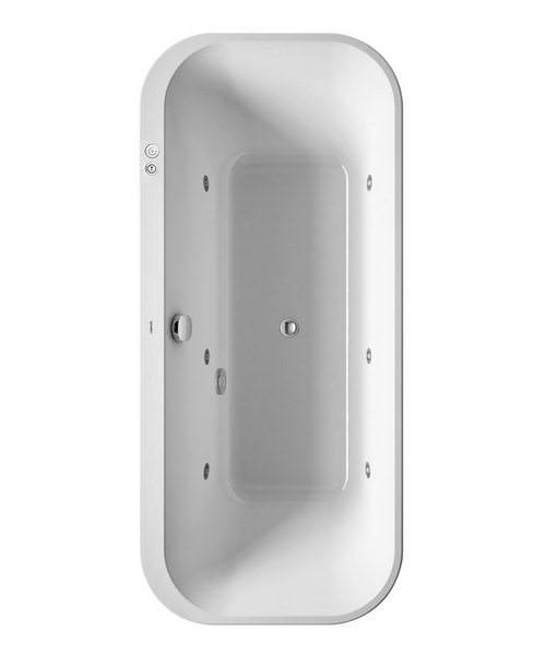 Duravit Happy D2 Lay-On 1800 x 800mm Bath - Jet-System