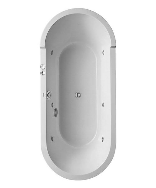 Duravit Starck Freestanding Oval Bath With Panel And Support Frame