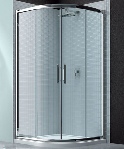 Merlyn 6 series 2 door quadrant shower enclosure 1000 x 1000mm for 1800mm high shower door
