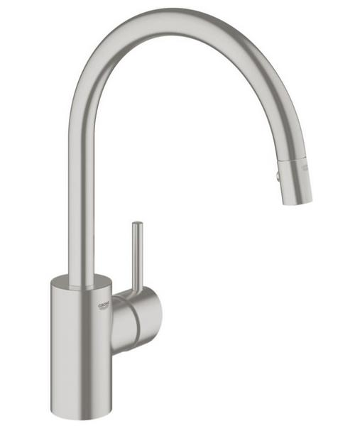 Grohe Concetto Single Lever Kitchen Sink Mixer Tap Supersteel