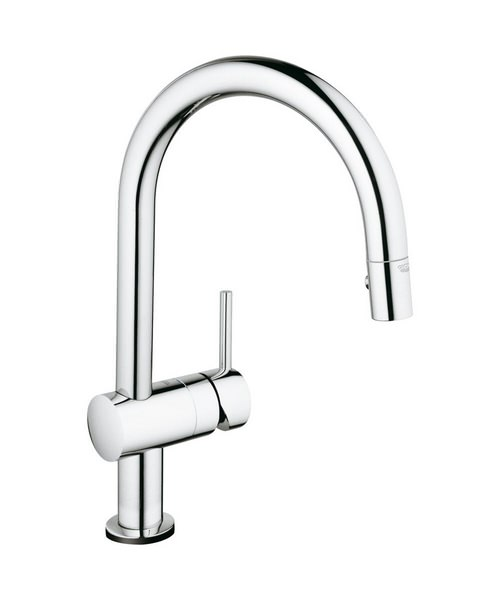 Grohe Minta Touch C-Spout Electronic Kitchen Sink Mixer Tap Chrome