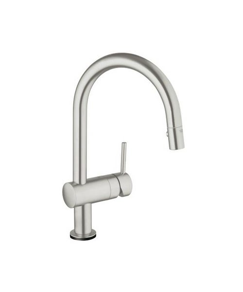 Grohe Minta Touch C-Spout Electronic Kitchen Sink Mixer Tap Supersteel