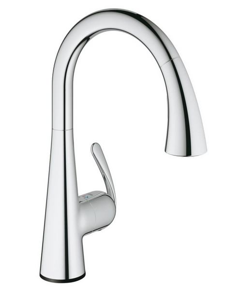 Grohe Zedra Touch Half Inch Electronic Kitchen Sink Mixer Tap Chrome